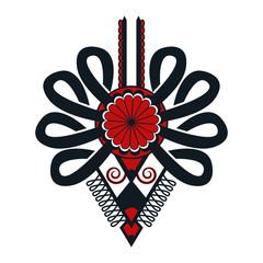 Polski folklor - ciemna parzenica, wzór