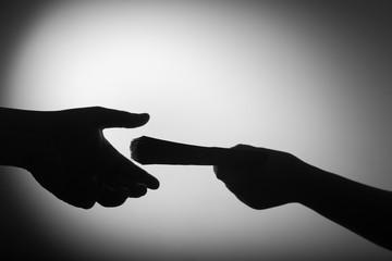 dark economy. Two hands with money