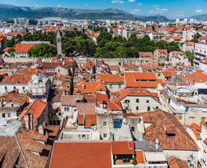 Roofs of houses in Split.