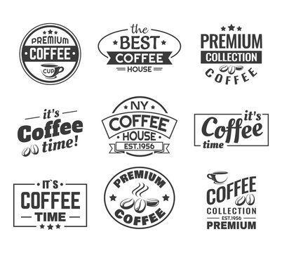 Coffee beans as logo, sign for shop or store