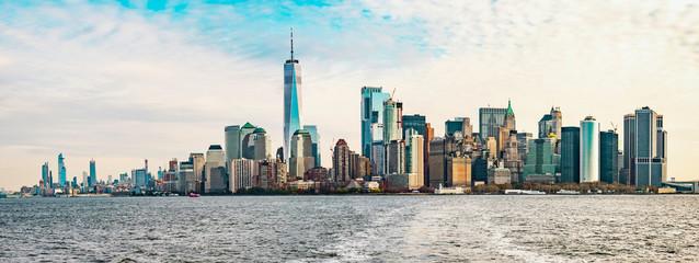 New York / Manhattan skyline seen from the south.