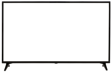 TV display screen frame with white backbackground