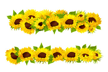 vector sunflower seeds frame