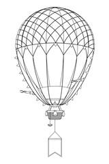 vector aerostat hot balloon