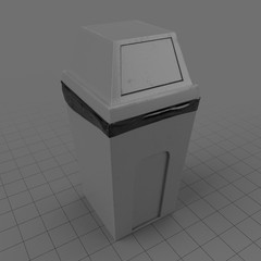 Closed dustbin