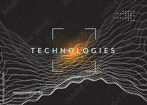Big data background  Technology for visualization, artificial