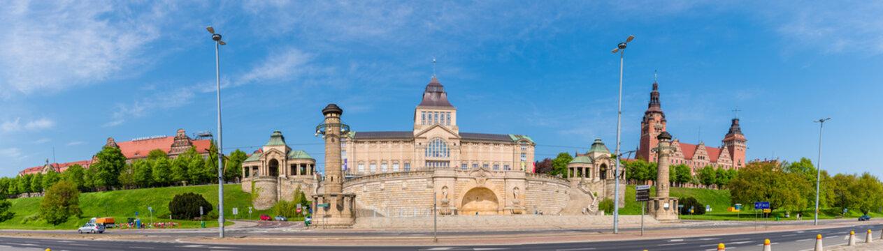 Hakenterrasse in Stettin mit Nationalmuseum