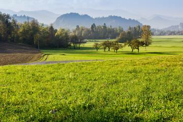 Countryside landscape in Slovenia, Bled neighborhood
