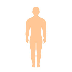 Muscular athletic male body silhouette