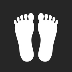 Foot print silhouette icon