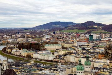 Panoramic view of the city.Salzburg.Austria.