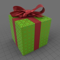 Christmas present with bow