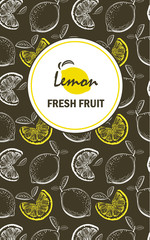 creative business brochure template with lemons, llustration