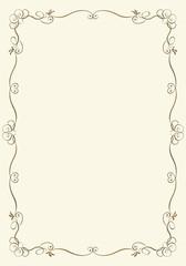 バロック調の金属の質感のオーナメントの背景 メタリックのフレーム 表彰状