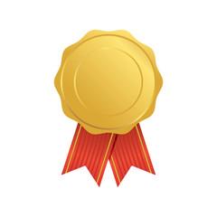 Award ribbon vector illustration