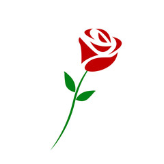 Vector branch of red roses isolated on a white background. eps10