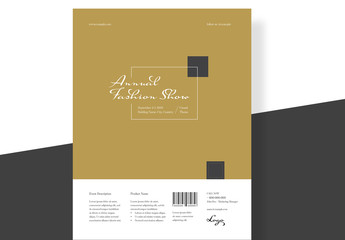 Elegant Fashion Creative Flyer Layout with Gold Accents