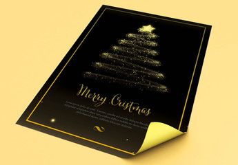 Black and Gold Christmas Flyer Layout