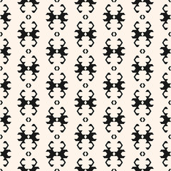 Seamless pattern in ethnic style. Vector black and white tribal ornament