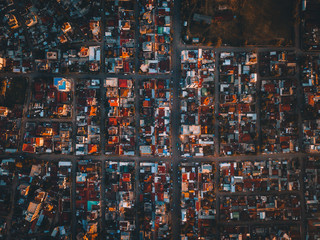 Aerial view of a town in Ethiopia