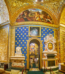 The chapel of the Langue of France, St John's Co-Cathedral in Valletta, Malta