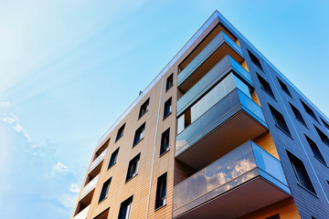 New modern apartment building exterior