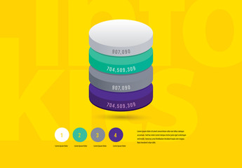Infographic Layout with 3D Circular Elements