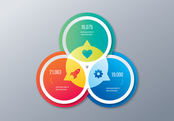 Infographic Layout with Overlapping Circular Elements