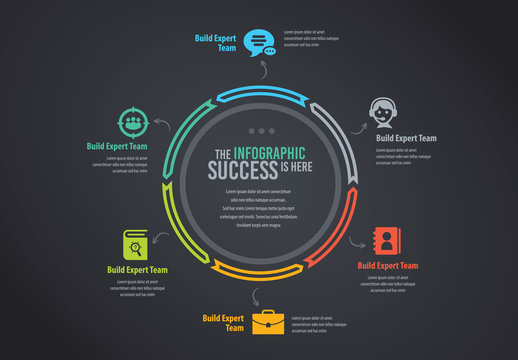 Multicolored Circular Infographic Layout