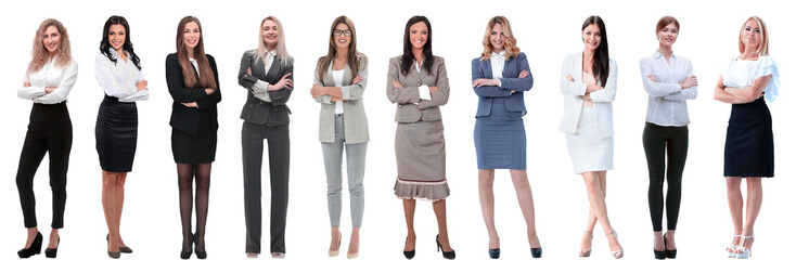 Collection of full-length portraits of young business women