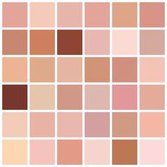 Skin tone color chart. Human skin texture color infographic palette. Facial care design