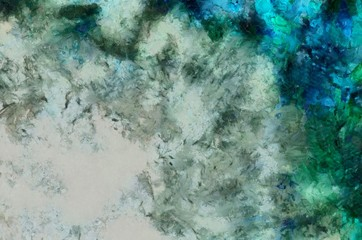 Modern acrylic painting wall art. Grunge texture background. Contemporary abstract fine art. Close up oil paint strokes on canvas. Watercolor unique pattern for design.