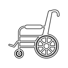 wheelchair icon. Element of cyber security for mobile concept and web apps icon. Thin line icon for website design and development, app development