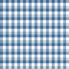 Blue and White Buffalo Plaid Seamless Pattern - Classic buffalo style plaid design