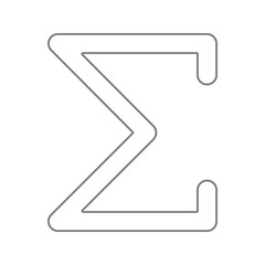 Sigma greek letter icon. Element of cyber security for mobile concept and web apps icon. Thin line icon for website design and development, app development