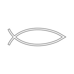 Fish sign. Christianity Ichthys Fish symbol icon. Element of cyber security for mobile concept and web apps icon. Thin line icon for website design and development, app development