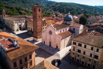 Church at the town of Pietransanta in Italy