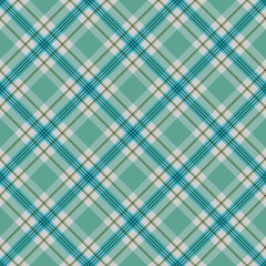 Green and Blue Plaid Seamless Pattern - Vibrant plaid design in bright colors for Christmas