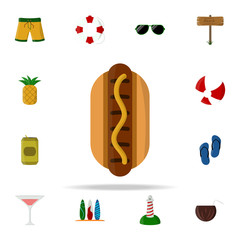 hotdog colored icon. summer icons universal set for web and mobile