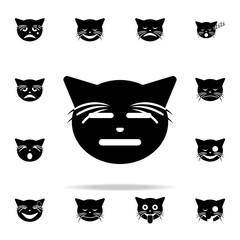 hmmm yes cat icon. cat smile icons universal set for web and mobile