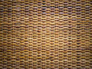 Pattern made of rattan weaving.