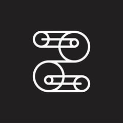 letter z rope machine logo vector