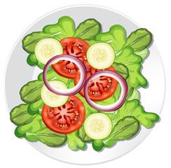 A healthy vegetable salad