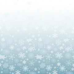 Winter blue gradient Christmas frame