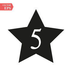 Hotel five star icon. Universal icon to use in web and mobile UI
