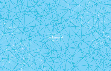 Abstract polygonal Blue background with connected dots and lines, connection structure, futuristic hud background, vector illustration