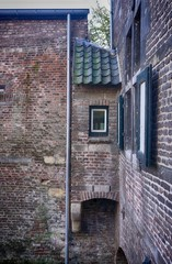 Medieval toilet that empties into a canal below