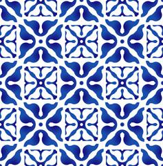 ceramic indigo pattern