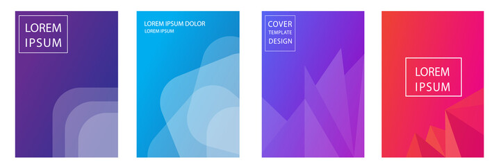 set of abstract background for cover, flyer, poster or brochure design