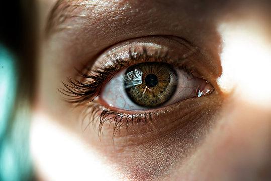 Cropped image of girl eye